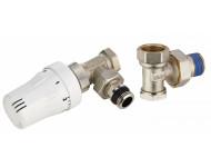 Kit robinet de radiateur thermostatique équerre mâle M1/2' (15x21) + coude de réglage mâle M1/2' (15x21) NOYON & THIEBAULT - 803568