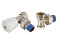 Kit robinet de radiateur manuel équerre mâle M1/2' (15x21) + coude de réglage mâle M1/2' (15x21) NOYON & THIEBAULT - 803577