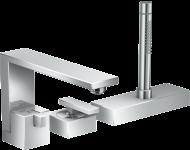 Set de finition pour Mitigeur 3 trous pour montage sur bord de baignoire chromé - 46430000