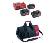 Pack 3 batteries 18V 5Ah + 1chargeur + Sac FLEX - 497444