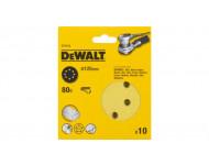 Disque abrasif DEWALT Velcro excentriques - Ø125 mm grain 80 - Boite de 10 - DT3103
