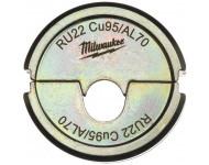Matrice de sertissage MILWAUKEE RU22 Cuivre 95 / Alu 70 - 4932451784