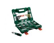 Coffret V-Line 91 pièces de forets et d'embouts TiN BOSCH avec tournevis à cliquet et tige magnétique - 2607017195