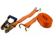 Sangle à cliquet + crochet poids lourd VISO - Larg.50mm -  long.8m - SPL801