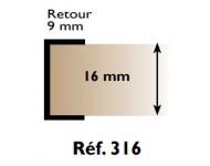 "Profil chant ""U"" 316 PRUNIER - 16 mm x 2.60 m - blanc - RIBP316"