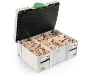 Coffret dominos FESTOOL DS500 - 4 x 20/ 5 x 30/ 6 x 40/ 8 x 40/ 8 x 50/ 10 x 50 mm (avec fraises 4-5-6-8-10 mm) - 498899