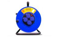 Enrouleur MERCIER 4 prises - 40m - 250V - 3 G 2,5 mm2 - H07RNF - 905