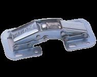 Charnière à plaquer 90° MONIN - avec ressort - acier zingué - 417 210