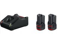 2 Batteries GBA 12V 2.0Ah + Chargeur GAL 12V-40 BOSCH - 1600A019R8