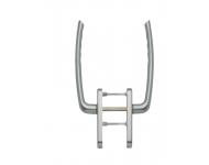 Poignée double int./ext. clé i pour coulissant levant aspect inox F9 HOPPE - épais.porte 55-65 mm - 3159041