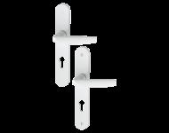 Ensemble de porte plaque large Atlanta HOPPE 1530/300M blanc 9016 - Clé i - entr.70 épais.68/77 - 2834703