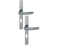 Ensemble de porte plaque étroite Atlanta HOPPE - aspect inox F9 - clé i - 1530/300LMSGL - entr.70 - ép.48/57 - 3303816