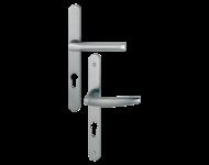 Ensemble de porte-fenêtre plaque étroite Atlanta 113KH/300LMSGL/1530 HOPPE Saillie super réduite Acier brossé F9 Clé i - ép.48/57 - 3305441