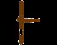 Ensemble de porte-fenêtre plaque étroite Atlanta HOPPE Saillie réduite 70 Clé i ép.68/77 marron 8003 - 3309468