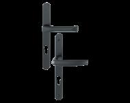 Ensemble de porte-fenêtre plaque étroite Atlanta 113KH/300LMSGL/1530 HOPPE Saillie réduite 195mm Noir 9714 Clé i Entr.92 C.8 - ép.78/87 - 3401109