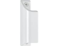 Poignée profilée 430 alu laqué blanc 9010 HOPPE - L.90 mm - pour porte-fenêtres - 517084