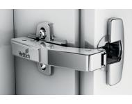 Charnière Sensys avec amortisseur HETTICH à visser - ép.porte 15/28 cais.90° 95°- porte en applique - 9085170