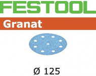 Abrasif pour ponçeuse FESTOOL Granat  - Ø 125 mm