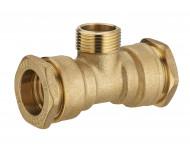 Té laiton pour tuyau polyéthylène mâle au centre NOYON & THIEBAULT - 1733
