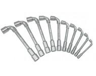 Jeu de 10 clés à pipe débouchées métriques 6 pans KS TOOLS - 517.0440