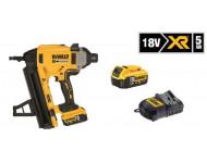 Cloueur sans fil béton/ acier XR 18V 5Ah + Pointes 2.6 x 20mm DEWALT - DCN89015BOITES