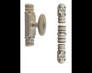 Crémone rustique fonctionnelle ROLLINGER + sachet d'accessoires pour tringle 16x8 - Blanc 9016 - CRF168BT6EB