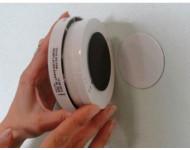 Support aimanté pour détecteur de fumee Ø60 MM - ARELEC