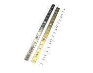 Crémaillère MONIN SAS - Laqué blanc - Larg.16 mm - Barre de 2 mL - 272705