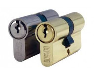 Cylindre européen nickelé entrouvrant Série C IFAM - 40+55 - N°KAC1 - Vis 5x40/5x60 - 3 clefs - 14486