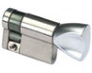 Demi-cylindre HG5 à bouton VACHETTE - Laiton nickelé - 30x10 mm - 00073011