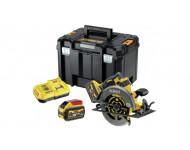 Scie circulaire 2.0 XR FLEXVOLT 54V 3Ah Li-Ion Brushless DEWALT - 190mm - 2 batteries - coffret TSTAK - DCS578X2-QW