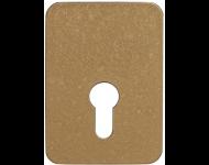 Contre-plaque CAVERS ISEO - pour verrou Arnov profil européen - bronze - 9701EU01SA