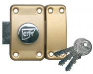 Verrou City à bouton CAVERS à cylindre 80 mm - 13020801