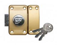 Verrou City, à bouton - Cylindre 80 mm - S'entrouvrant, sur N V03 - 13020801V03