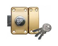 Verrou ISEO City 25 à bouton - Cylindre 45 mm - Sur variure N V04 - 10020452