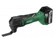 Outil multifonction HIKOKI 18V - Avec 2 batteries 18V 5.0Ah + chargeur, coffret, 3 lames de scie, 5 feuilles abrasives - CV18DBLWPZ