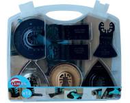 Coffret de 12 accessoires LEMAN multi-matériaux pour outil oscillant - 4500.12