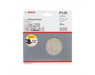 Disque abrasif BOSCH - pour ponceuses GEX - grain 120  - Ø 150 mm - 5 pièces - 2608621164