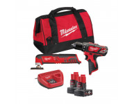Powerpack MILWAUKEE 12V M12 BPP2D-402B M12BPD + C12MT MILWAUKEE - 4933441250