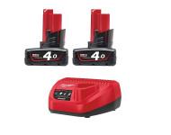 Pack 2 batteries 12V 4.0Ah M12 PACKNRJ-402 MILWAUKEE - 4933459211