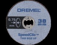 LOT de 5 Disques A Tronçonner EZ SpeedClic Ø38 MM Epaisseur 0,75 MM DREMEL - 2615 S409 JB