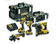 Pack 4 outils DEWALT XR 18V 5Ah Li-Ion - DCK422P3