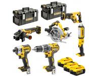 Pack de 6 outils DEWALT XR 18V 5Ah Li-Ion - DCK623P3