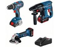 Kit 3 outils Perceuse GSR 18V-28 + Meuleuse GWS 18 125 V-LI + Perfo GBH 18V-20 BOSCH - 0615990M0S