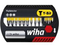 """Coffret FlipSelector 12 embouts """"Y"""" L.25 mm WIHA + 1 Porte-embout magnétique PH/PZ/Torx - 41827"""
