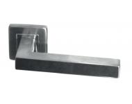 Paire béquilles doubles carrées - Inox 304 19x19 rosace 53x53 mm  - 651