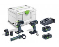 Visseuse à chocs sans fil TID18 5,2/4,0 I-Set PDC18 FESTOOL - 2 batteries + chargeur - 576488