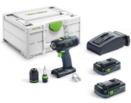 Perceuse-visseuse sans fil T 18+3 HPC 4,0 I-Plus FESTOOL - 576446