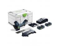 Scie FESTOOL ISC 240 HPC 4,0 EBI-Plus pour matériaux isolants - Avec 2 batteries 18V 4.0 Ah, chargeur, systainer et lame - 576569