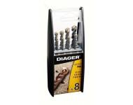 Coffret duo 8 forets béton DIAGER  - série Pro - 299B